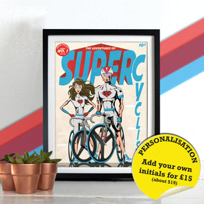 Super Cyclists Comic Book Superhero superheros Bicycle