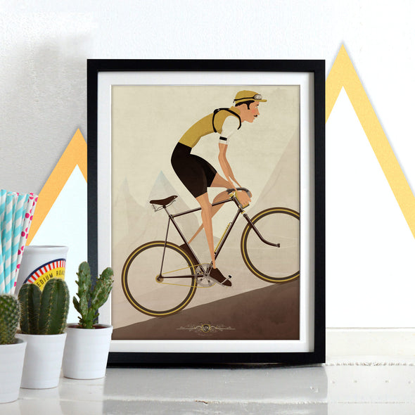 Vintage Style Cyclist Bicycle Bike Poster Wall Art Print Home Décor cycling tour de france