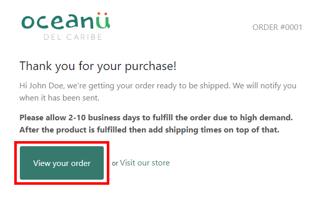 View Your Order