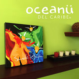 Canvas Print 12in / 16in - Vejigantes Danza de Colores Wall Decor Puerto Rico