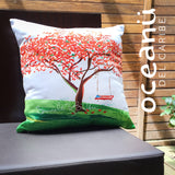 Square Throw Pillow - Flamboyan Anaranjado Puerto Rico | Cojin