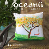 Square Throw Pillow - Flamboyan Amarillo Puerto Rico | Cojin Puerto Rico