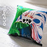 Square Throw Pillow - Los Reyes Magos Bandera Puerto Rico | Cojin