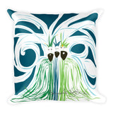 Square Throw Pillow - Reyes Magos Blue Strokes | Cojines Puerto Rico