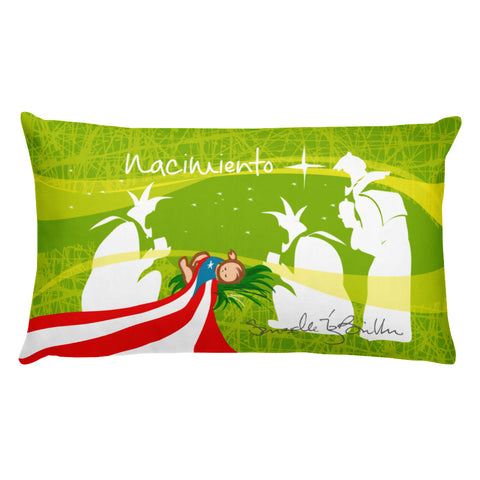 Rectangular Throw Pillow - Nacimiento Puerto Rico Cojines