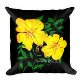 Square Throw Pillow - Amapola Amarilla | Cojines Puerto Rico