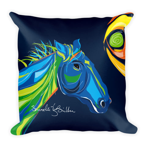 Square Throw Pillow - Caballo . Horse | Cojines Puerto Rico