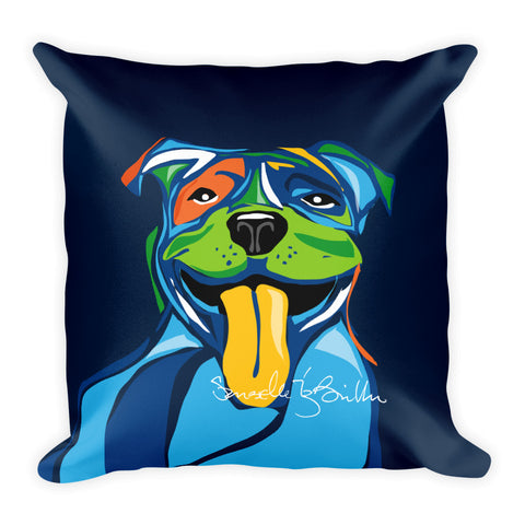 Square Throw Pillow - Perro Dog Pit bull | Cojines Puerto Rico