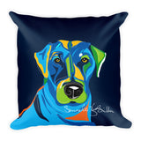 Square Throw Pillow - Perro Dog Labrador | Cojines Puerto Rico