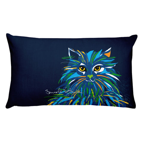 Rectangular Throw Pillow - Gato Cat Gaze Cojines Puerto Rico