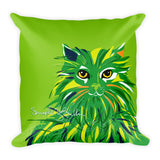 Square Throw Pillow - Gato Cat Gaze | Cojines Puerto Rico