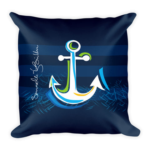 Square Throw Pillow - Ancla | Cojines Puerto Rico