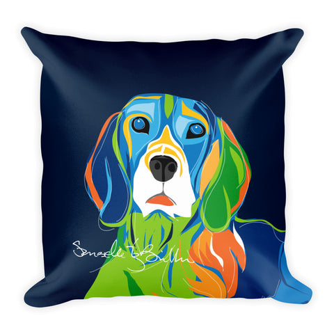 Square Throw Pillow - Perro Dog Beagle | Cojines Puerto Rico