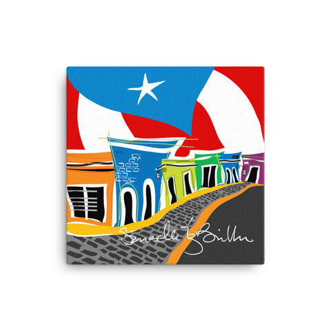 Canvas Print 12in / 16in - En Mi Viejo San Juan Wall Decor Puerto Rico