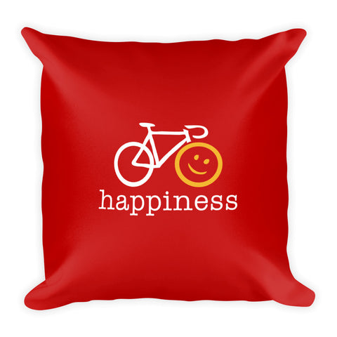 Square Throw Pillow - Cycling Happiness | Cojines Puerto Rico
