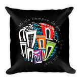 Square Throw Pillow - ¡Con o Sin Luz! | Cojines Puerto Rico