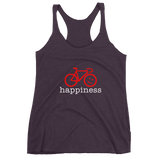 Women's Racerback Tank<br>Cycling Happiness Red