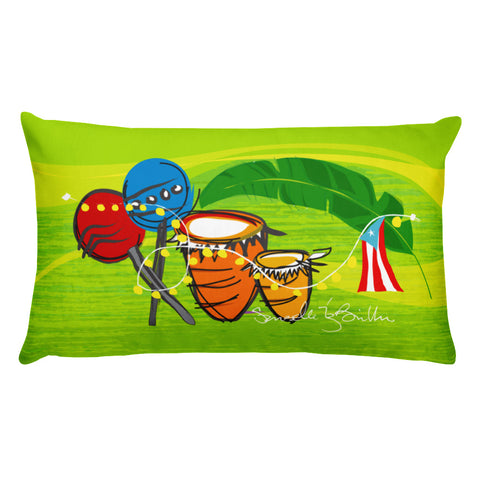 Rectangular Throw Pillow - Ritmo Puerto Rico Cojines