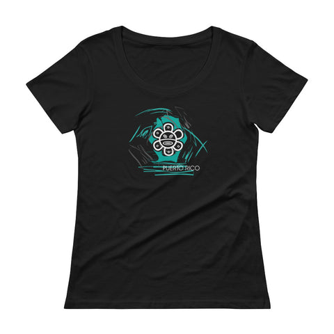 Women's T-Shirt - Burning Sun Blue | Oceanupr : Oceanu del Caribe