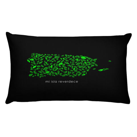 Rectangular Throw Pillow - Mi Isla Reverdece Cojines Puerto Rico