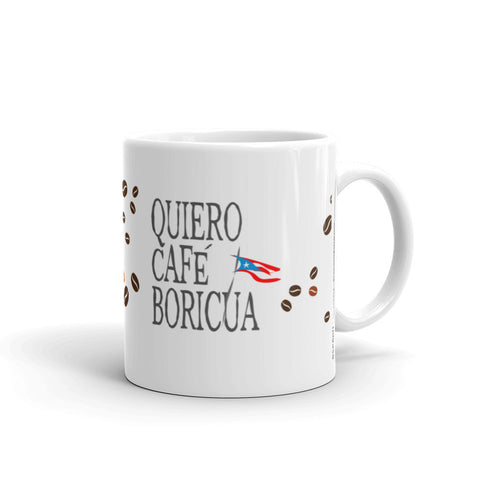 Coffee Mug 11oz Quiero Cafe Boricua Taza