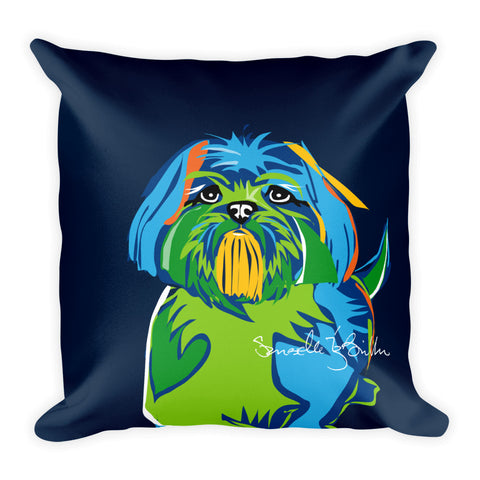 Square Throw Pillow - Perro Dog Shih Tzu | Cojines Puerto Rico