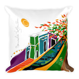 Square Throw Pillow - Flamboyan Puerto Rico | Cojines Puerto Rico
