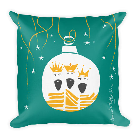 Square Throw Pillow - Los Reyes Ornamento Puerto Rico Cojines
