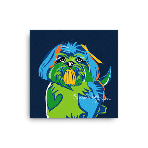 Canvas Print 12in / 16in - Perro Dog Shih Tzu Wall Decor Puerto Rico