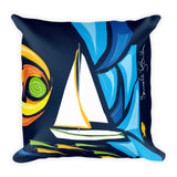 Square Throw Pillow - Velero | Cojines Puerto Rico