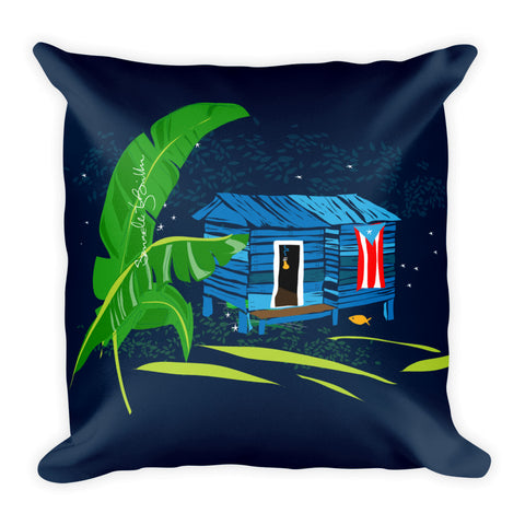 Square Throw Pillow - Se Respira Paz Cojines Puerto Rico