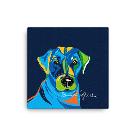 Canvas Print 12in / 16in - Perro Dog Labrador Wall Decor Puerto Rico