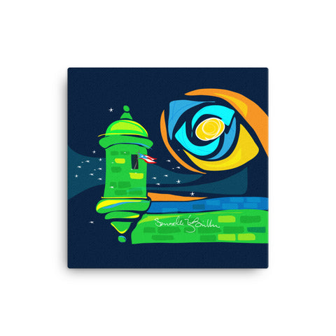 Canvas Print 12in / 16in - Garita Bandera Puerto Rico Wall Decor