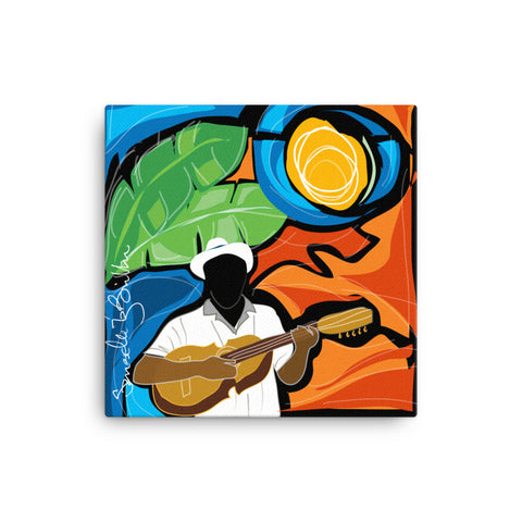 Canvas Print 12in / 16in - Y la Cuerda se hizo Cancion Wall Decor Puerto Rico