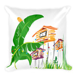 Square Throw Pillow - Brisas del Campo | Cojines Puerto Rico