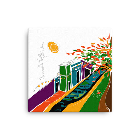 Canvas Print 12in / 16in - Puerto Rico Flamboyán Wall Decor