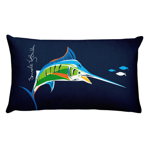 Rectangular Throw Pillow - Marlin Cojines Puerto Rico