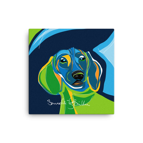 Canvas Print 12in / 16in - Perro Dog Dachshund  Wall Decor Puerto Rico
