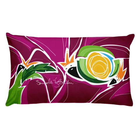 Rectangular Throw Pillow - Reyes Magos Estan los Tres Cojines Puerto Rico