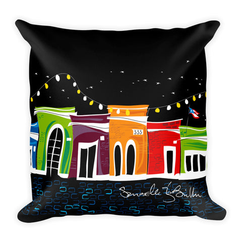 Square Throw Pillow - San Juan Puerto Rico Cojines