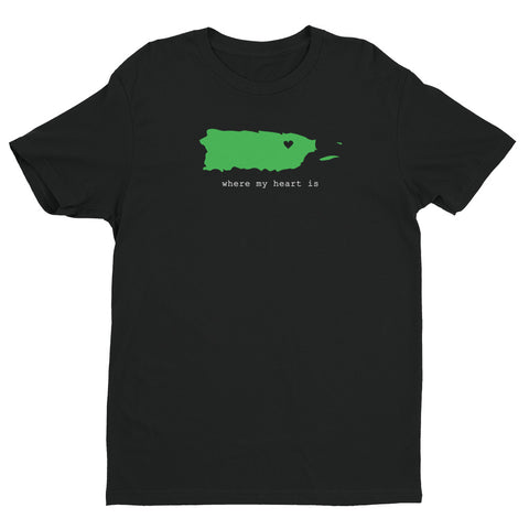 Men's T-Shirt - Where My Heat Is | Oceanupr : Oceanü del Caribe