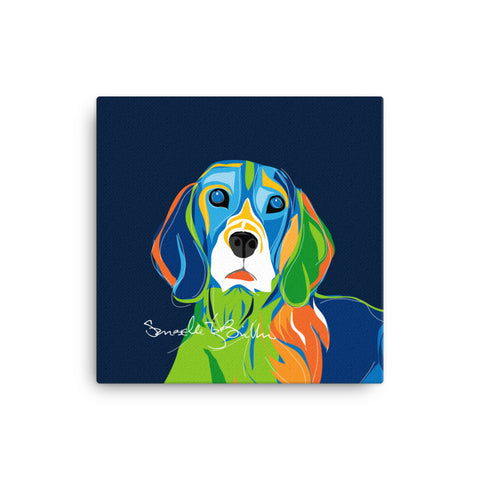 Canvas Print 12in / 16in - Perro Dog Beagle Wall Decor Puerto Rico