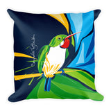 Square Throw Pillow - San Pedrito | Cojines Puerto Rico