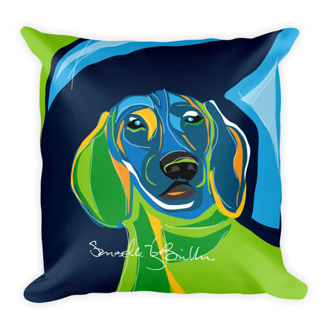 Square Throw Pillow - Perro Dog Dachshund | Cojines Puerto Rico