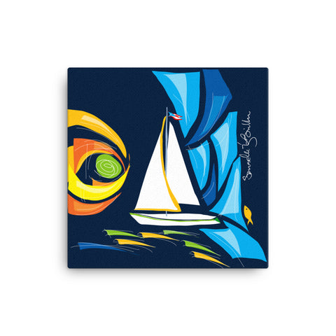Canvas Print 12in / 16in - Velero Puerto Rico Wall Decor