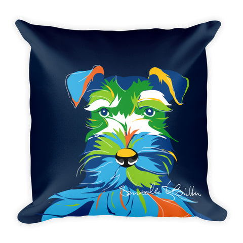Square Throw Pillow - Perro Dog Schnauzer | Cojines Puerto Rico