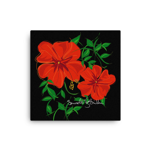 Canvas Print 12in / 16in - Amapola Roja Wall Decor Puerto Rico
