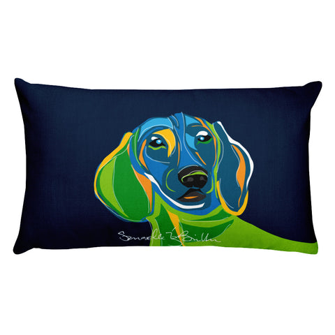Rectangular Throw Pillow - Perro Dog Dachshund | Cojines Puerto Rico