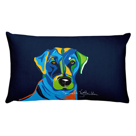 Rectangular Throw Pillow - Perro Dog Labrador Cojines Puerto Rico