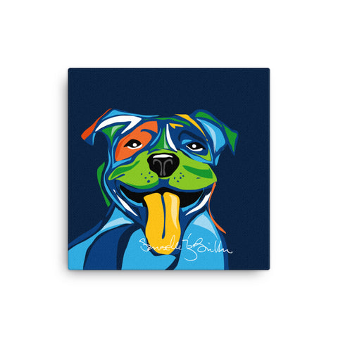 Canvas Print 12in / 16in - Perro Dog Pit bull Wall Decor Puerto Rico
